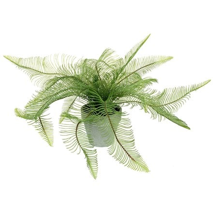 Artificial potted feathered fern