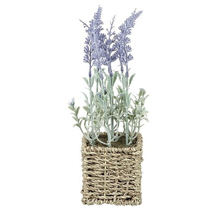 Artificial lavender with basket