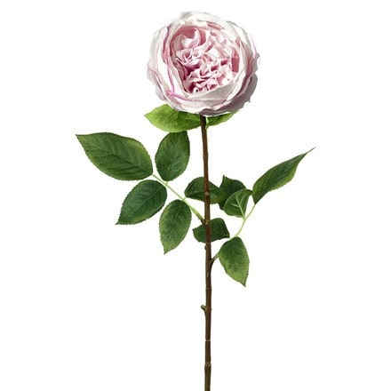 Artificial rose real touch stem