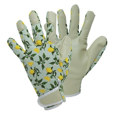 April Raven Sicilian lemon lady gardener gloves