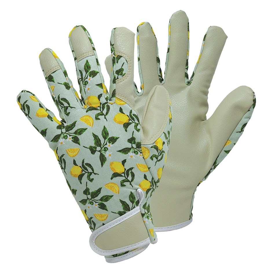 Sicilian lemon patterned gloves