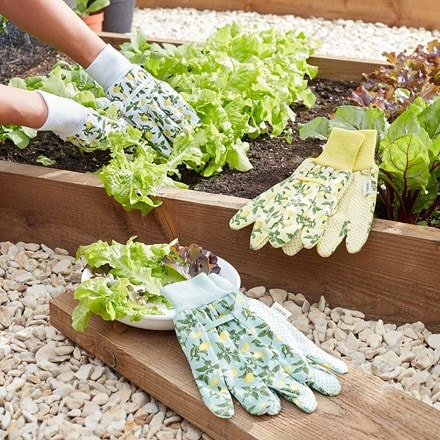 Sicilian lemon cotton grip gloves