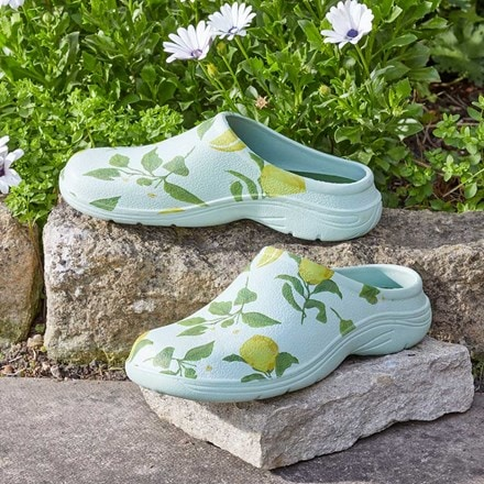 April Raven Sicilian lemon garden clogs