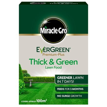 Miracle-gro evergreen premium plus thick and green lawn food