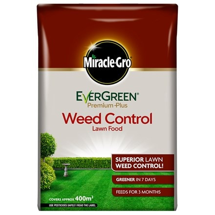 Miracle-gro evergreen premium plus weed control lawn food