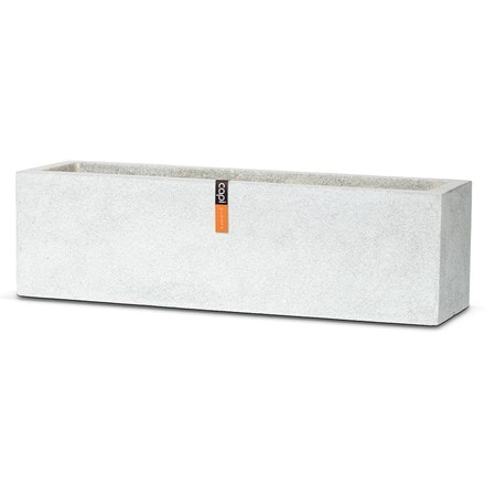 Cadix planter rectangle low grey terrazzo