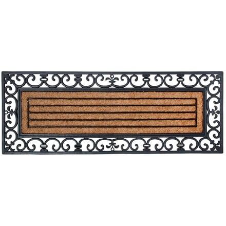 Large rubber & coir doormat