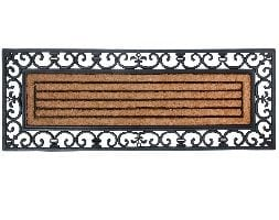Large rubber & coir doormat