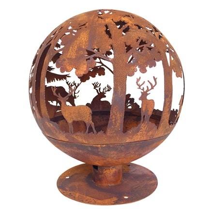 Woodland fire globe laser cut