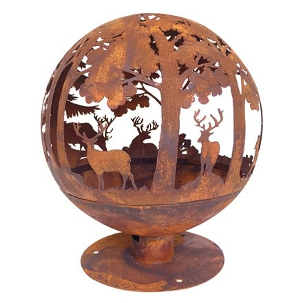 Woodland fire globe laser cut