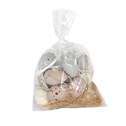 Mini speckled egg decorations, bag of 12