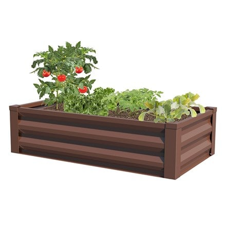 Metal raised garden planter
