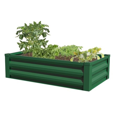 Metal raised garden planter