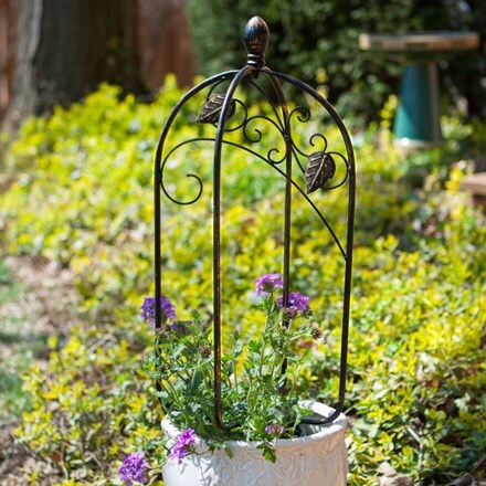 Scroll and ivy mini pot trellis