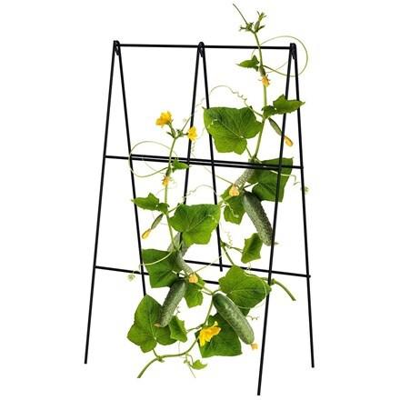 Folding A-frame cucumber trellis