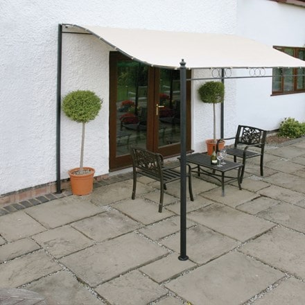 Easy fit wall mounted gazebo