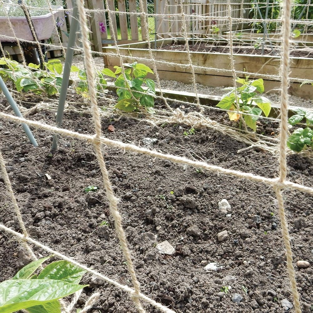 Jute garden netting
