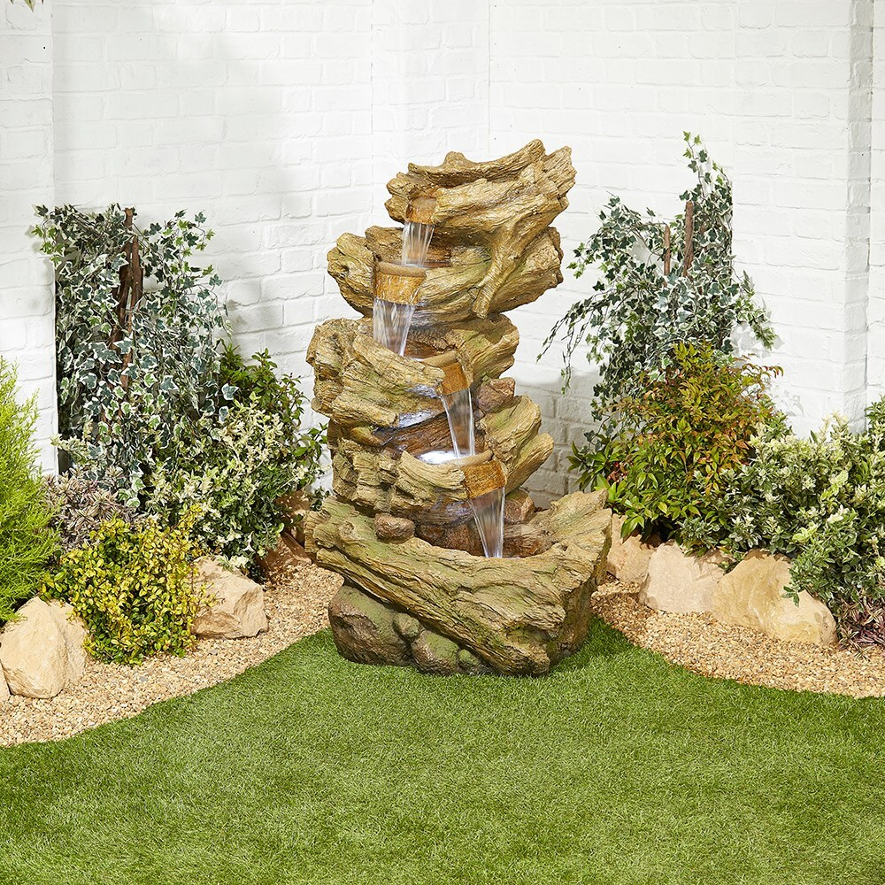 LED hickory falls water feature