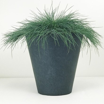 Moden round contemporary planter dark grey