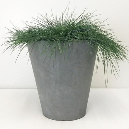 Moden round contemporary planter light grey