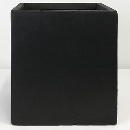 Moden square box contemporary planter black