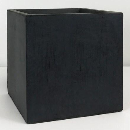 Moden square box contemporary planter dark grey