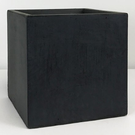 Moden square box contemporary planter dark grey