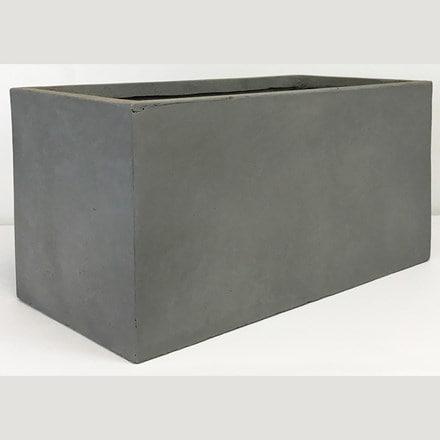 Moden contemporary trough planter light grey
