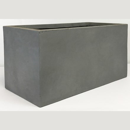 Moden contemporary trough planter light grey