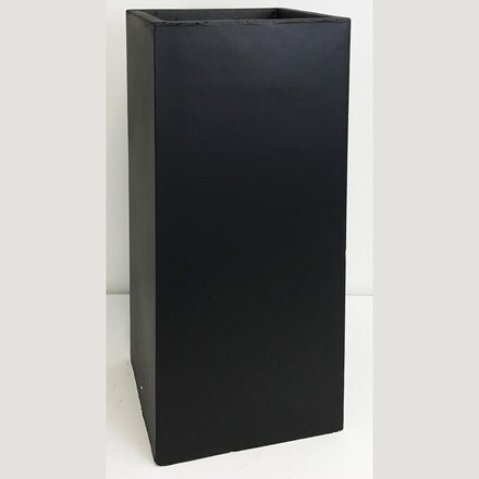 Moden tall square contemporary planter black