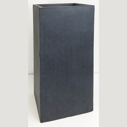 Moden tall square contemporary planter dark grey