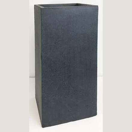 Moden tall square contemporary planter dark grey