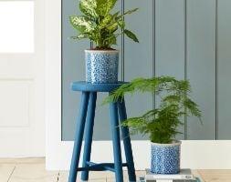 Glazed pot - porto dark blue