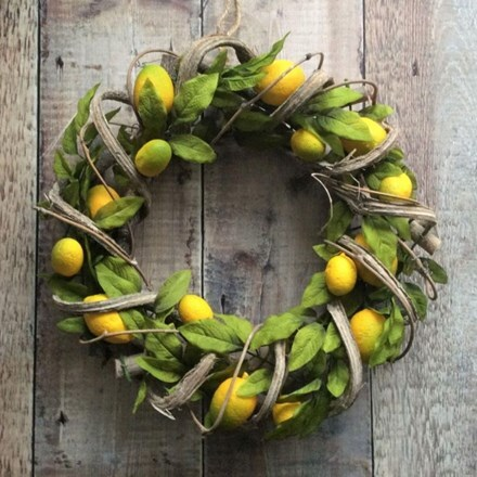 Lemon twig leaf wreath