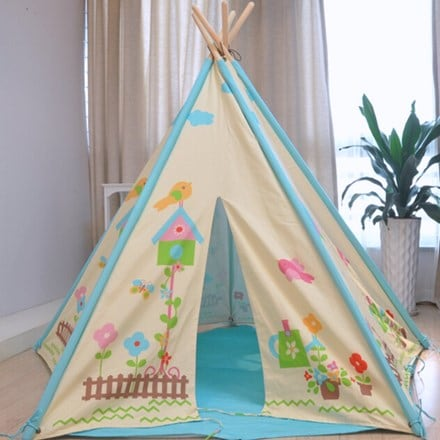 Childrens butterfly garden wigwam