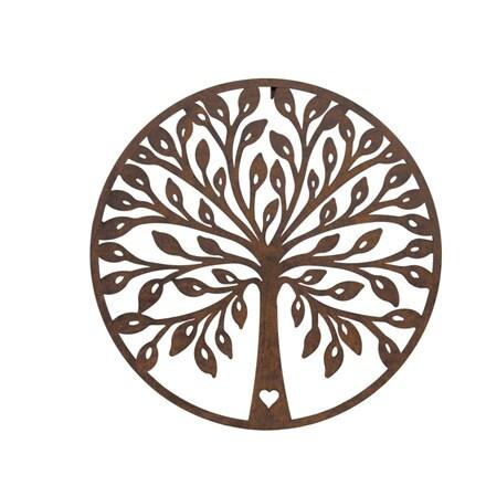 Round tree plaque