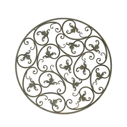 Round scroll wall plaque
