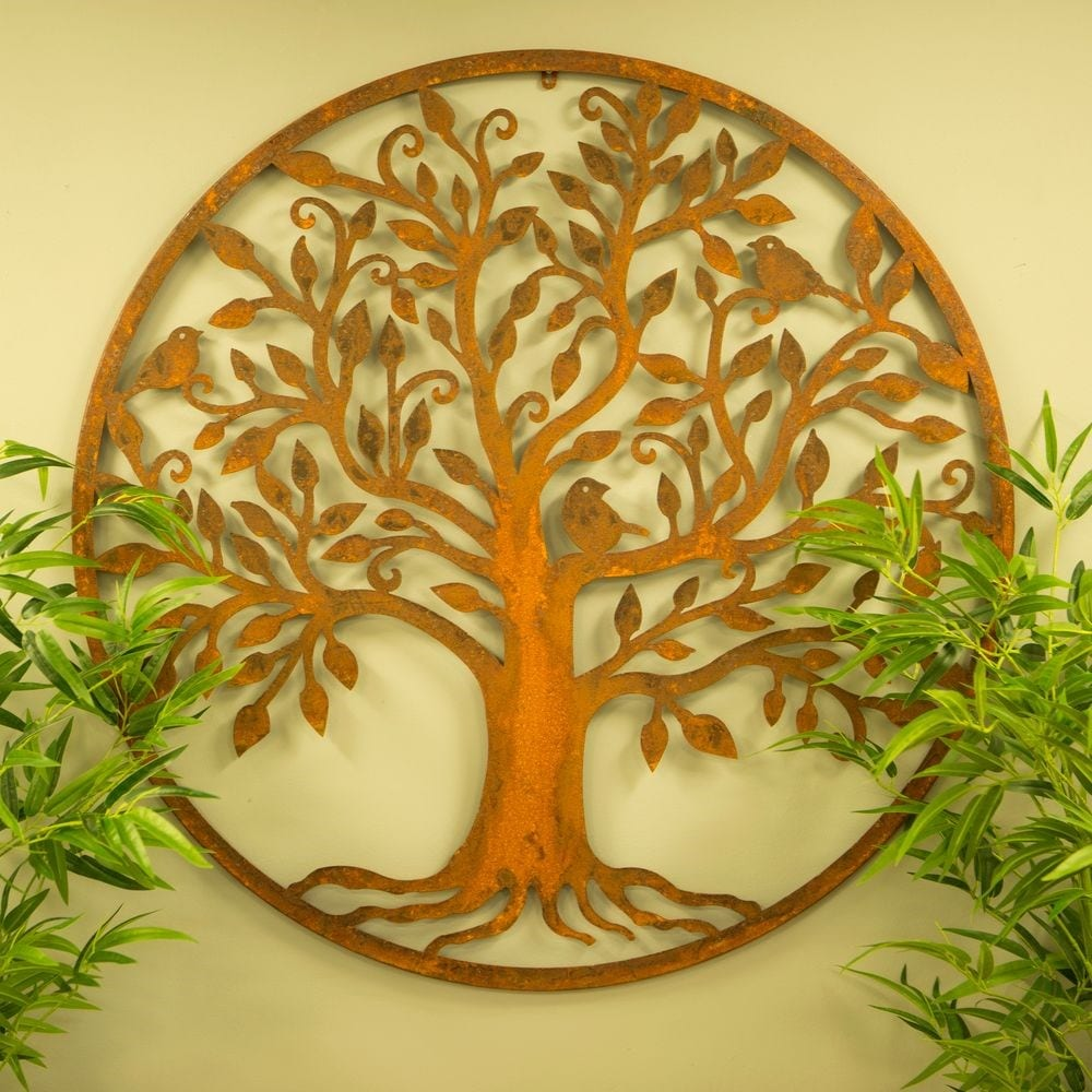 Bird tree wall plaque - large