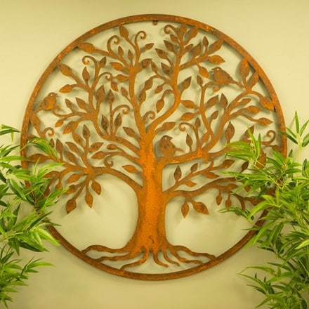 Bird tree wall plaque