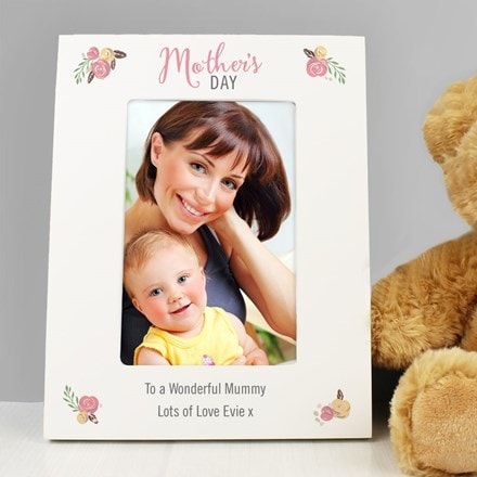 Personalised floral bouquet Mother's Day 4 x 6 photo frame