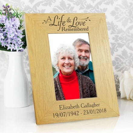 Personalised 'Life & Love' 4 x 6 photo frame