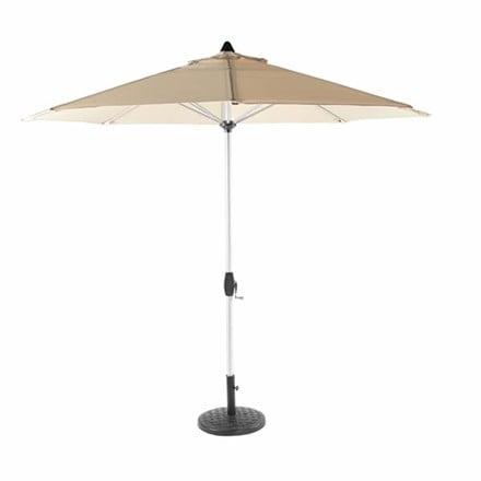 Bramblecrest brushed aluminium parasol 3m