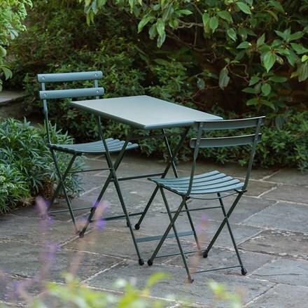 Rome folding bistro set - dark green