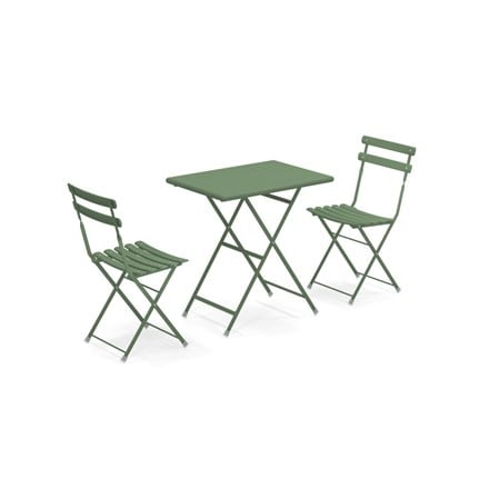 Rome folding bistro set - dark green