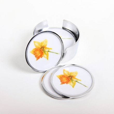 Daffodil coasters - set of 6