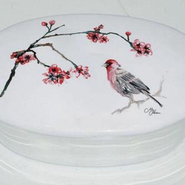 Japanese blossom trinket box