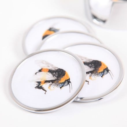 Bee coasters - set of 6