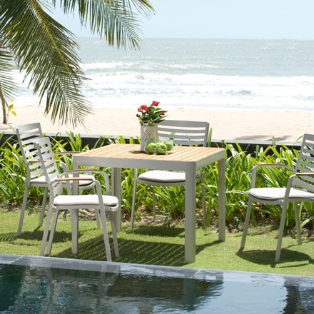 Lifestyle Garden Portals 4 seat dining set