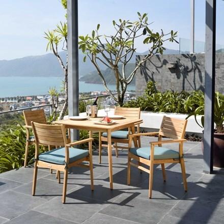 Lifestyle Garden Eve teak 4 seat dining set
