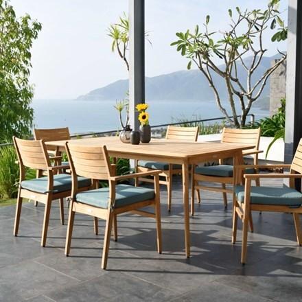 Lifestyle Garden Eve teak 6 seat dining set